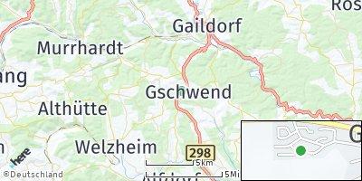 Google Map of Gschwend bei Gaildorf