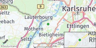 Google Map of Au am Rhein