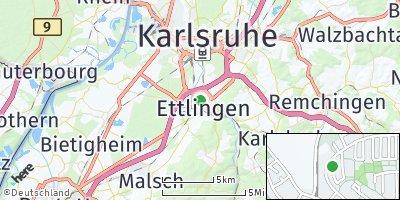 Google Map of Ettlingen