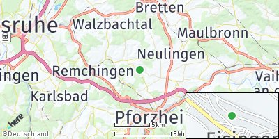 Google Map of Eisingen