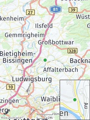 Here Map of Benningen am Neckar