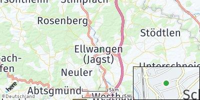 Google Map of Schloß ob Ellwangen