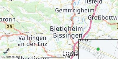 Google Map of Kleinsachsenheim