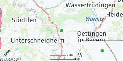 Google Map of Fremdingen