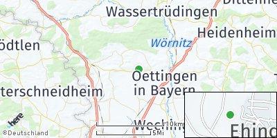 Google Map of Ehingen am Ries