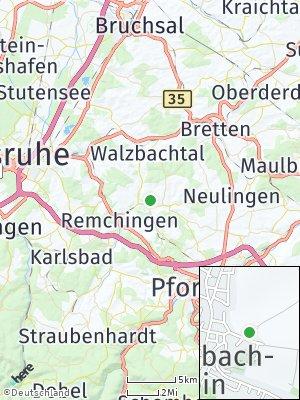 Here Map of Königsbach-Stein