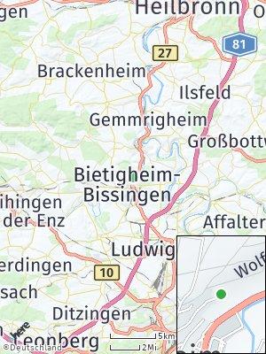 Here Map of Bietigheim-Bissingen