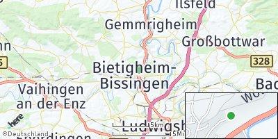 Google Map of Bietigheim-Bissingen