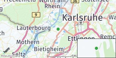 Google Map of Rheinstetten