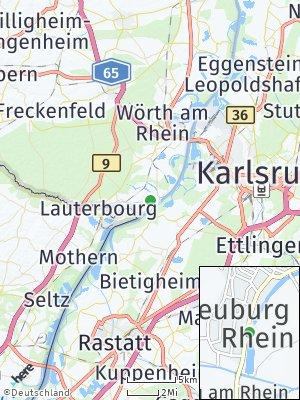 Here Map of Neuburg am Rhein