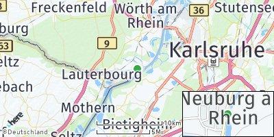 Google Map of Neuburg am Rhein