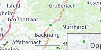 Google Map of Oppenweiler