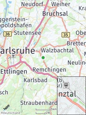 Here Map of Pfinztal