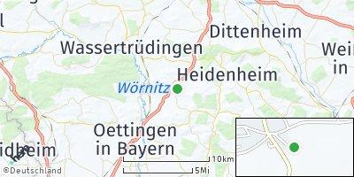 Google Map of Westheim bei Gunzenhausen