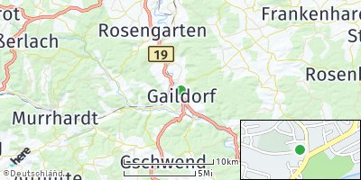 Google Map of Gaildorf