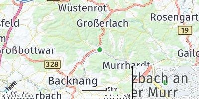 Google Map of Sulzbach an der Murr