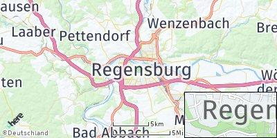 Google Map of Regensburg