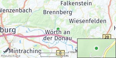 Google Map of Wörth an der Donau