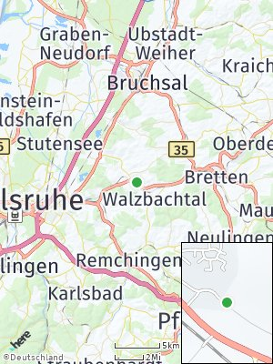 Here Map of Walzbachtal