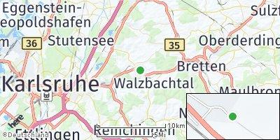 Google Map of Walzbachtal