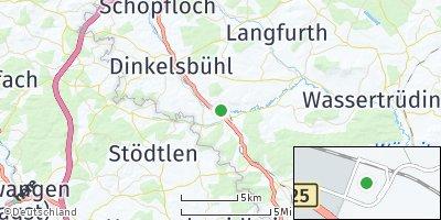 Google Map of Wilburgstetten