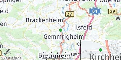 Google Map of Kirchheim am Neckar