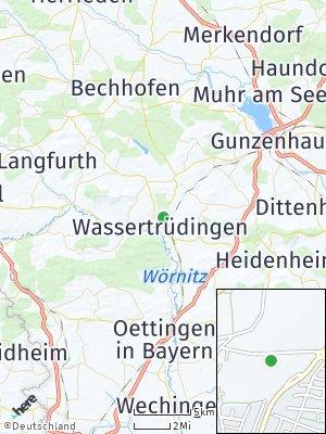 Here Map of Wassertrüdingen