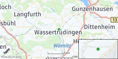 Google Map of Wassertrüdingen