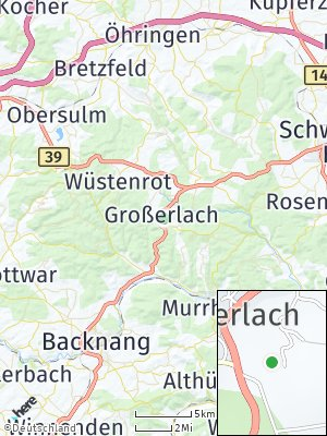 Here Map of Großerlach