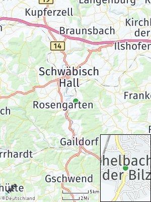 Here Map of Michelbach an der Bilz
