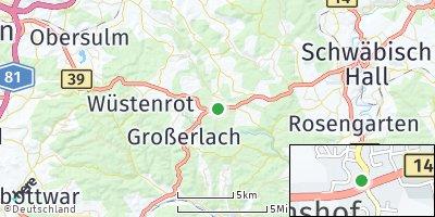 Google Map of Mainhardt