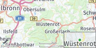 Google Map of Wüstenrot