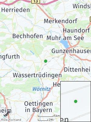 Here Map of Unterschwaningen