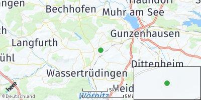 Google Map of Unterschwaningen