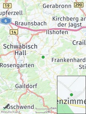 Here Map of Dörrenzimmern