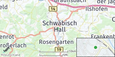 Google Map of Schwäbisch Hall