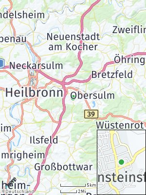 Here Map of Lehrensteinsfeld