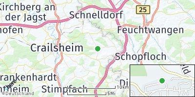 Google Map of Kreßberg