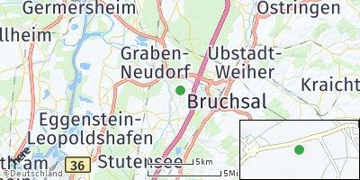 Google Map of Karlsdorf-Neuthard