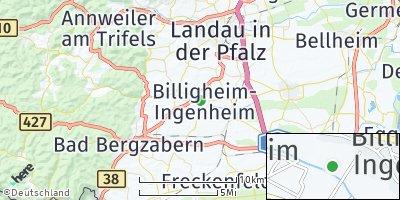 Google Map of Billigheim-Ingenheim