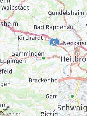 Here Map of Schwaigern