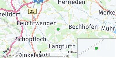 Google Map of Dentlein am Forst