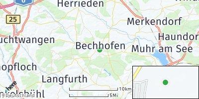 Google Map of Bechhofen an der Heide