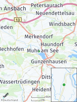 Here Map of Muhr am See