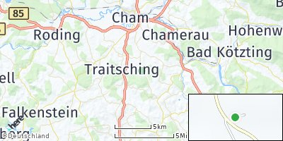 Google Map of Eichberg bei Traitsching