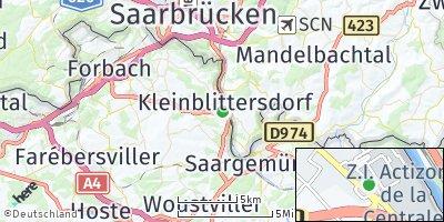 Google Map of Kleinblittersdorf