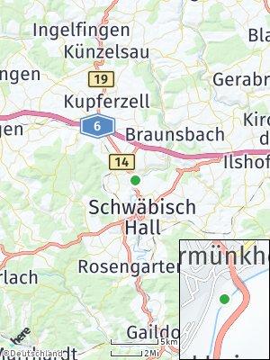 Here Map of Untermünkheim