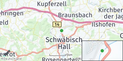 Google Map of Untermünkheim