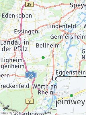 Here Map of Herxheimweyher bei Landau