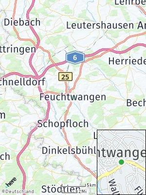 Here Map of Feuchtwangen